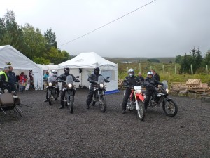 Group of CCM GP450 motorbikes
